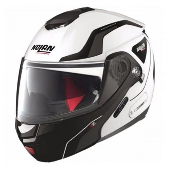 Casque Flip Up Nolan N90 2 Straton N-Com Metal White 21