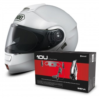 helmet shoei note white sena 10u bluetooth kit at the best price. Black Bedroom Furniture Sets. Home Design Ideas