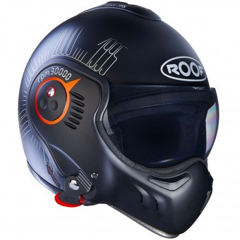 Casque Flip Up Roof Boxer V8 1995 Matt Black Fluo Orange