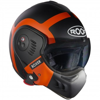 Casque Flip Up Roof Boxer V8 Bond Matt Black Orange