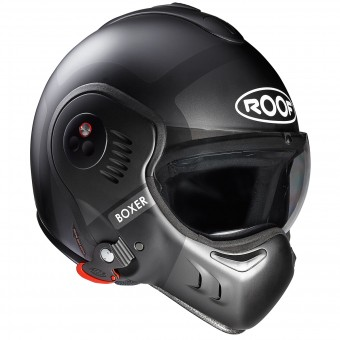 Casque Flip Up Roof Boxer V8 Bond Titanium Matt Black