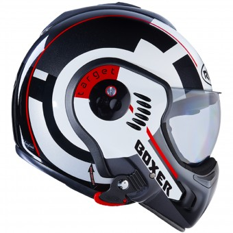 Casque Flip Up Roof Boxer V8 Target White Black Red