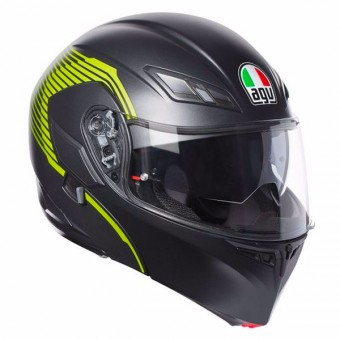 Casque Flip Up AGV Compact ST Vermont Matt Black Yellow Fluo