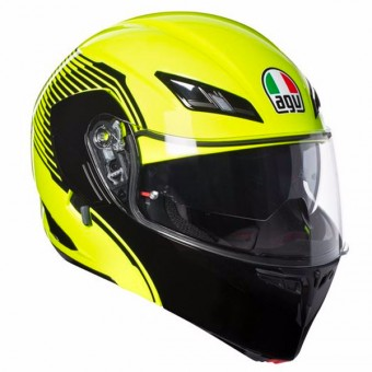Casque Flip Up AGV Compact ST Vermont Yellow Fluo Black