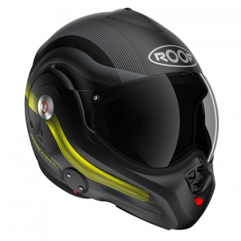Casque Flip Up Roof Desmo Streamline Black Steel Yellow Neon Matt 3rd Generation