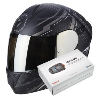 Casque Flip Up Scorpion Exo 920 Satellite Matt Black Silver