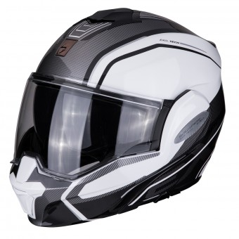 Casque Flip Up Scorpion Exo Tech Time-Off White Nacre Silver