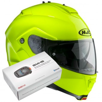 Casque Flip Up HJC IS-MAX II Green Fluo