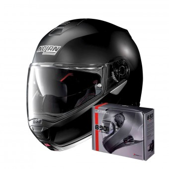 Casque Flip Up Nolan N100 5 Classic N-Com Flat Black 10
