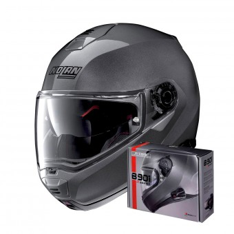 Casque Flip Up Nolan N100 5 Classic N-Com Lava Grey 4