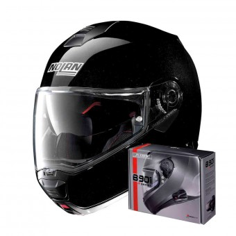 Casque Flip Up Nolan N100 5 Special N-Com Metal Black 12