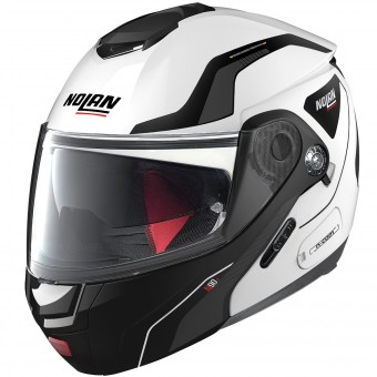 Casque Flip Up Nolan N90 2 Straton N-Com White 17