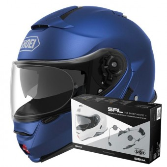 Casque Flip Up Shoei Neotec II Matt Blue Metal