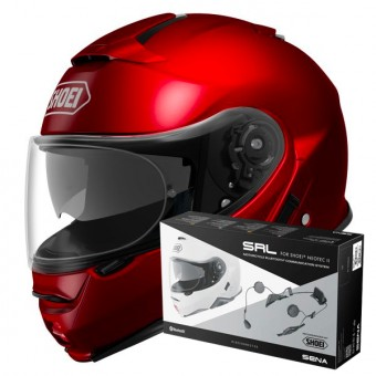Casque Flip Up Shoei Neotec II Wine Red