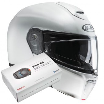 Casque Flip Up HJC RPHA 90 Semi Pearl White