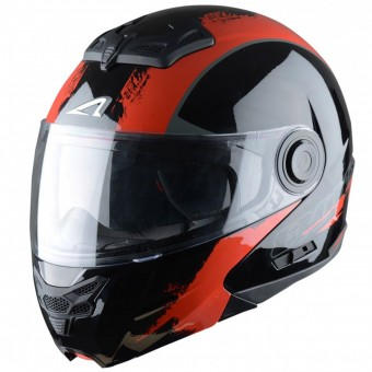 Casque Flip Up Astone RT 800 Venom Black Red