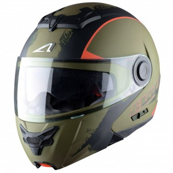 Casque Flip Up Astone RT 800 Venom Khaki Black