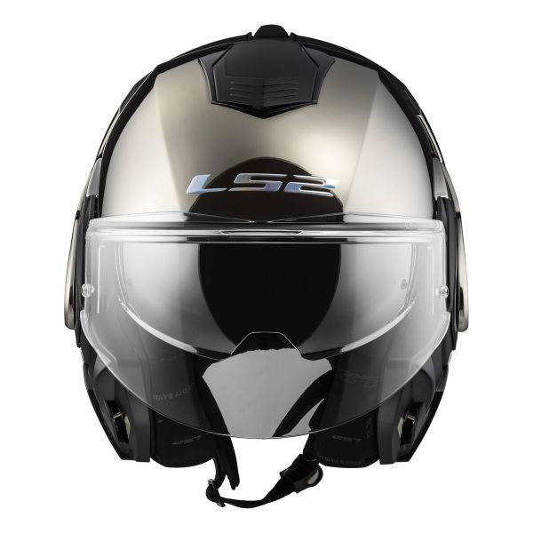 Helmet Ls2 Valiant Solid Gloss Chrome Ff399 At The Best Price