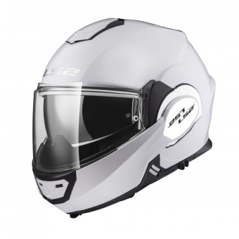 Casque Flip Up LS2 Valiant Solid Gloss White FF399
