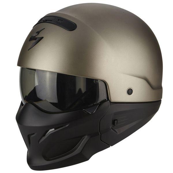 helmet scorpion exo combat titanium at the best price. Black Bedroom Furniture Sets. Home Design Ideas