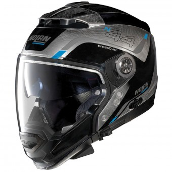 Casque Convertible Nolan N44 Evo Viewpoint N-Com Scratched Chrome 54