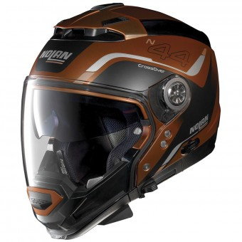 Casque Convertible Nolan N44 Evo Viewpoint N-Com Scratched Flat Copper 55