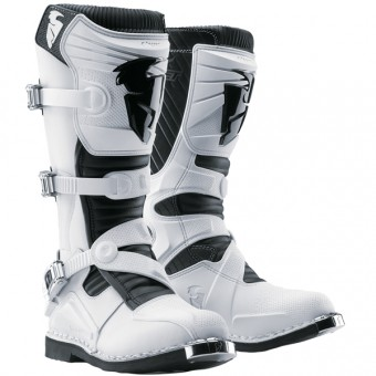 Motocross Boots Thor Ratchet White