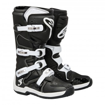 Motocross Boots Alpinestars Tech 3 Black White