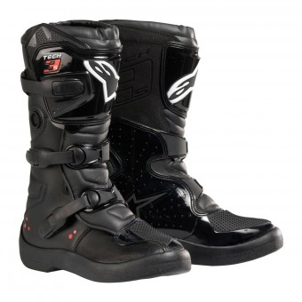 Motocross Boots Alpinestars Tech 3S Kids Black White Red Fluo