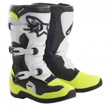 Motocross Boots Alpinestars Tech 3S Kids Black White Yellow Fluo