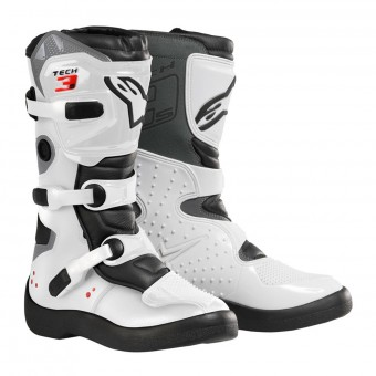 Motocross Boots Alpinestars Tech 3S Kids Black White