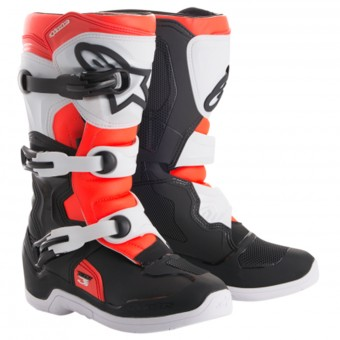 Motocross Boots Alpinestars Tech 3S Youth Black White Red Fluo