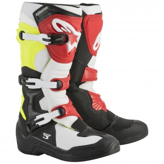 Motocross Boots Alpinestars Tech 3S Youth Black White Yellow Fluo