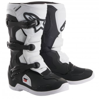 Motocross Boots Alpinestars Tech 3S Youth Black White