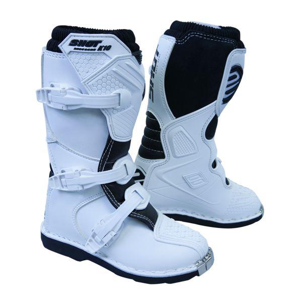 Motocross Boots SHOT K10 2.0 White