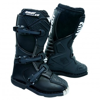 Motocross Boots SHOT K10 2.0 Black