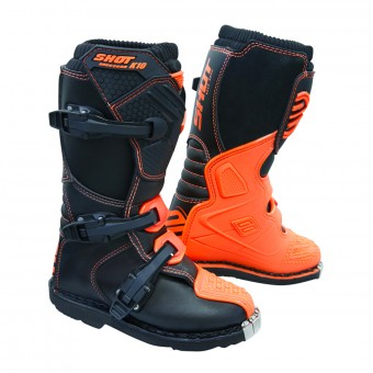 Motocross Boots SHOT K10 2.0 Orange Fluo