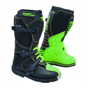 Motocross Boots SHOT K10 2.0 Green Fluo