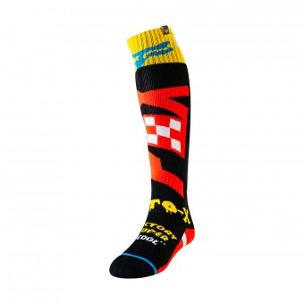 Motocross Shoes FOX Fri Thin Czar Black Yellow