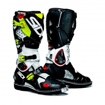 Motocross Boots SIDI Crossfire 2 SRS White Black Yellow Fluo