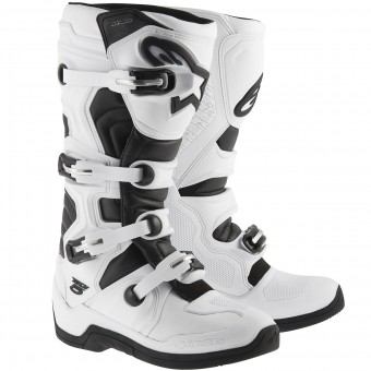 Motocross Boots Alpinestars TECH 5 White