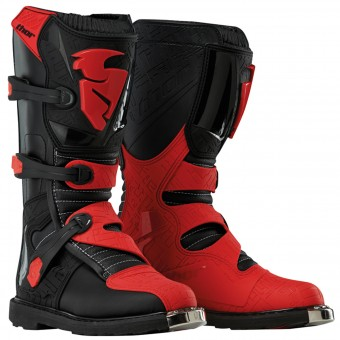 Motocross Boots Thor Blitz Black Black Red Kid