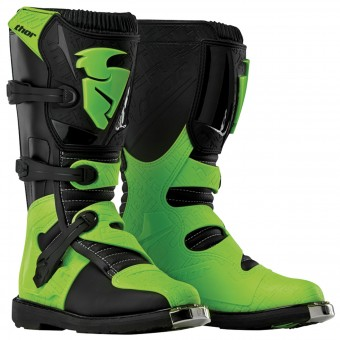 Motocross Boots Thor Blitz Black Green Kid