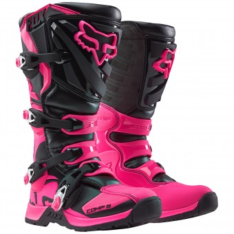 Motocross Boots FOX Comp 5 Black Pink Women (285)