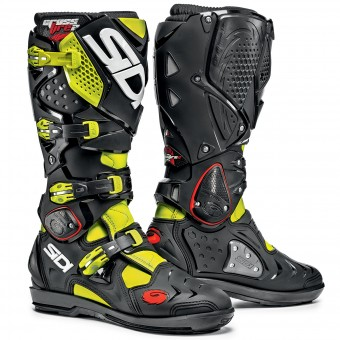 Motocross Boots SIDI Crossfire 2 SRS Yellow Fluo Black