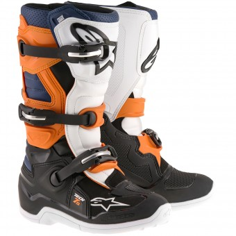 Motocross Boots Alpinestars TECH 7 S Black Orange Blue Child