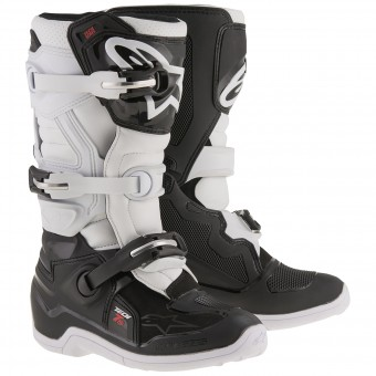 Motocross Boots Alpinestars TECH 7 S Black White Child
