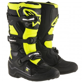 Motocross Boots Alpinestars TECH 7 S Black Yellow Fluo Child
