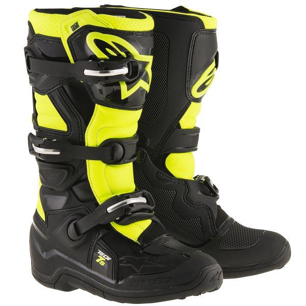 Motocross Boots Alpinestars TECH 7 S Black Yellow Fluo Child