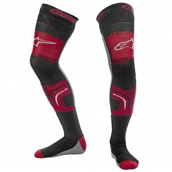 Motocross Shoes Alpinestars Knee Brace Socks Red Black